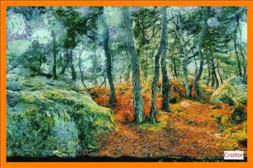 Peinture , des gorges de de Franchard , Fontainebleau
