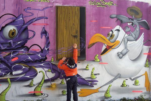 Peinture éphémère à la Rochelle