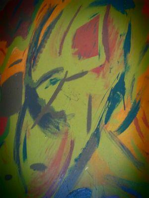 peinture sur mur a la main