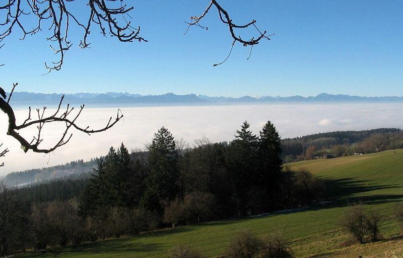 Peißenberg im Nebel