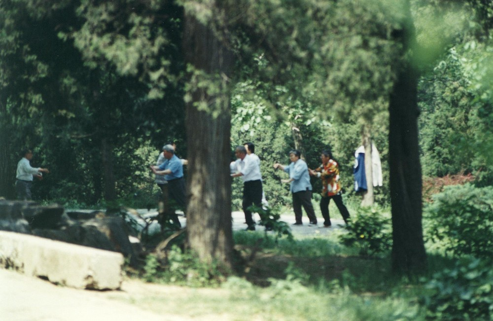 Pekin relaxation dans le parc de la colline de charbon