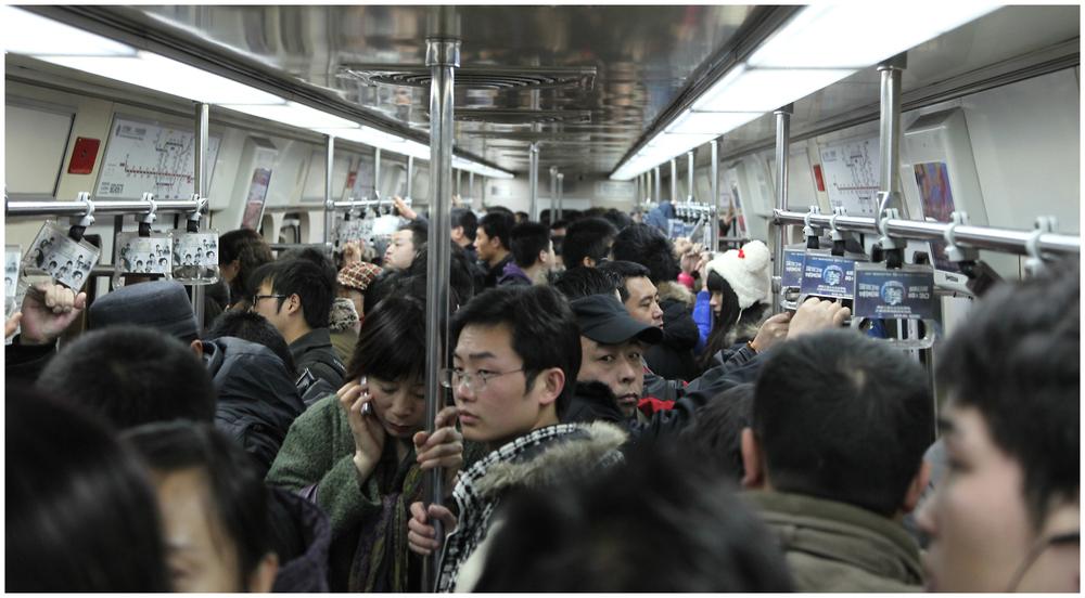 Peking in der U-Bahn
