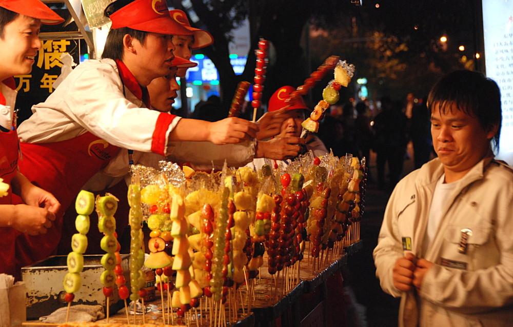 Peking, Nachtmarkt bei der Wangfujing-Straße