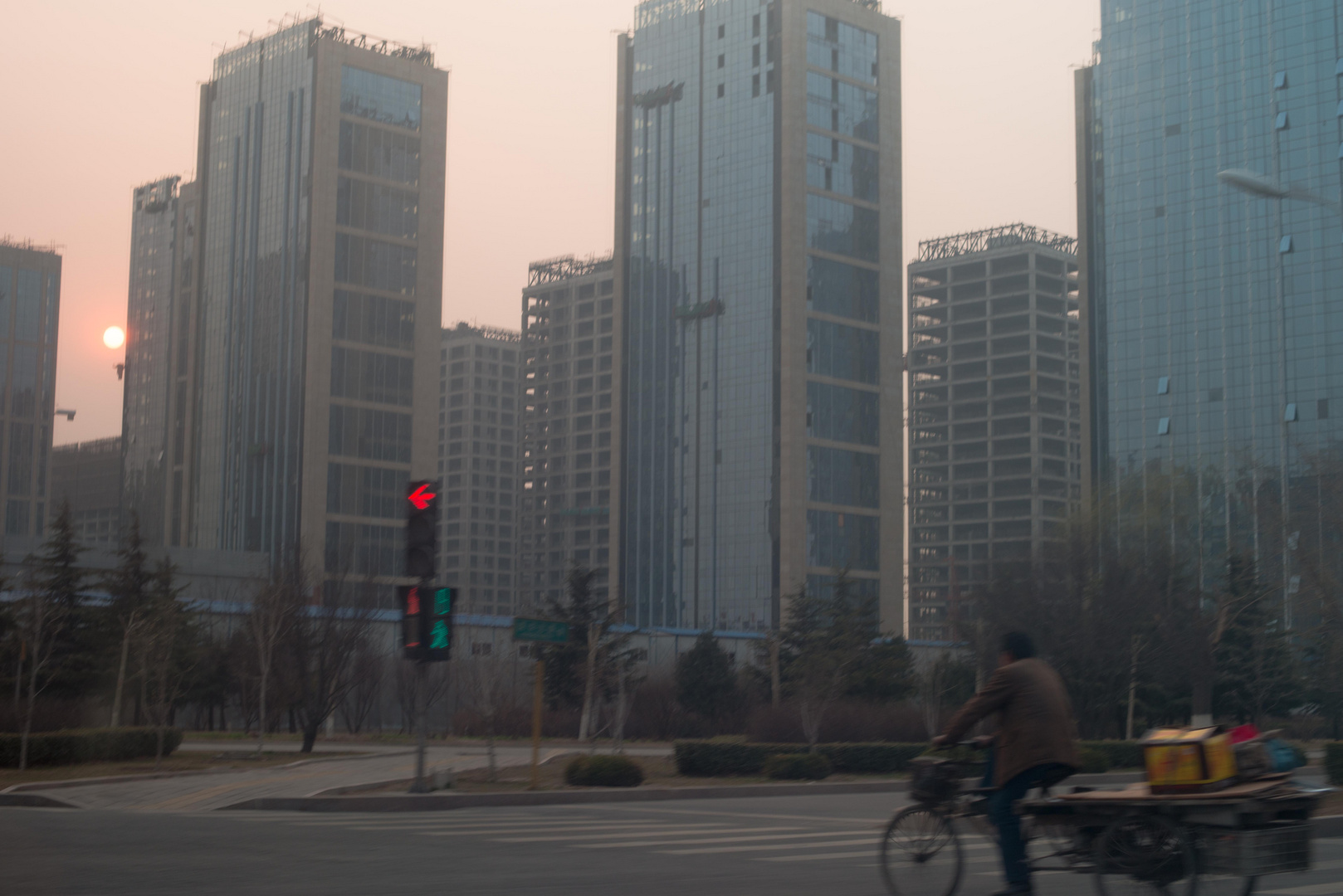 Peking, Sonnenuntergang