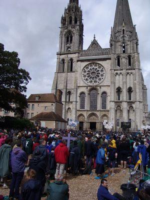 Pelerinage des scouts-Chartres -Juin 2007