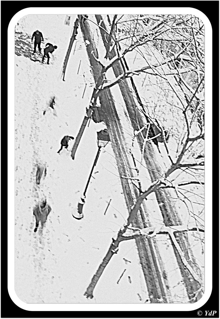 Pelletées & partie de boules de neige....