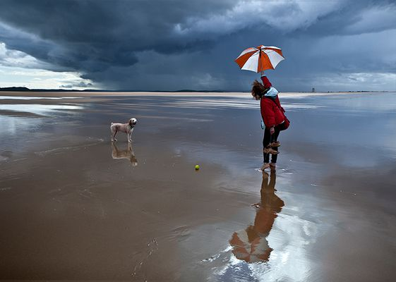 Peloteo en la playa