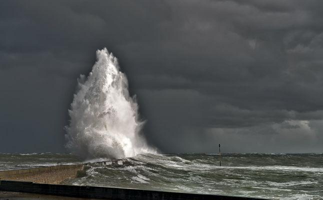Pendant la tempête Christine