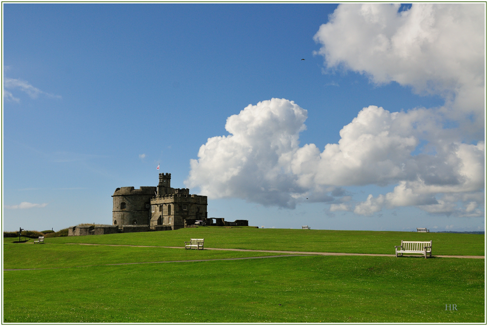 Pendennis Castle in Falmouth / England / Cornwall
