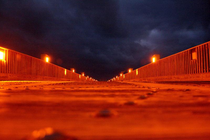 Pensacola Beach, Florida - Pier bei Nacht