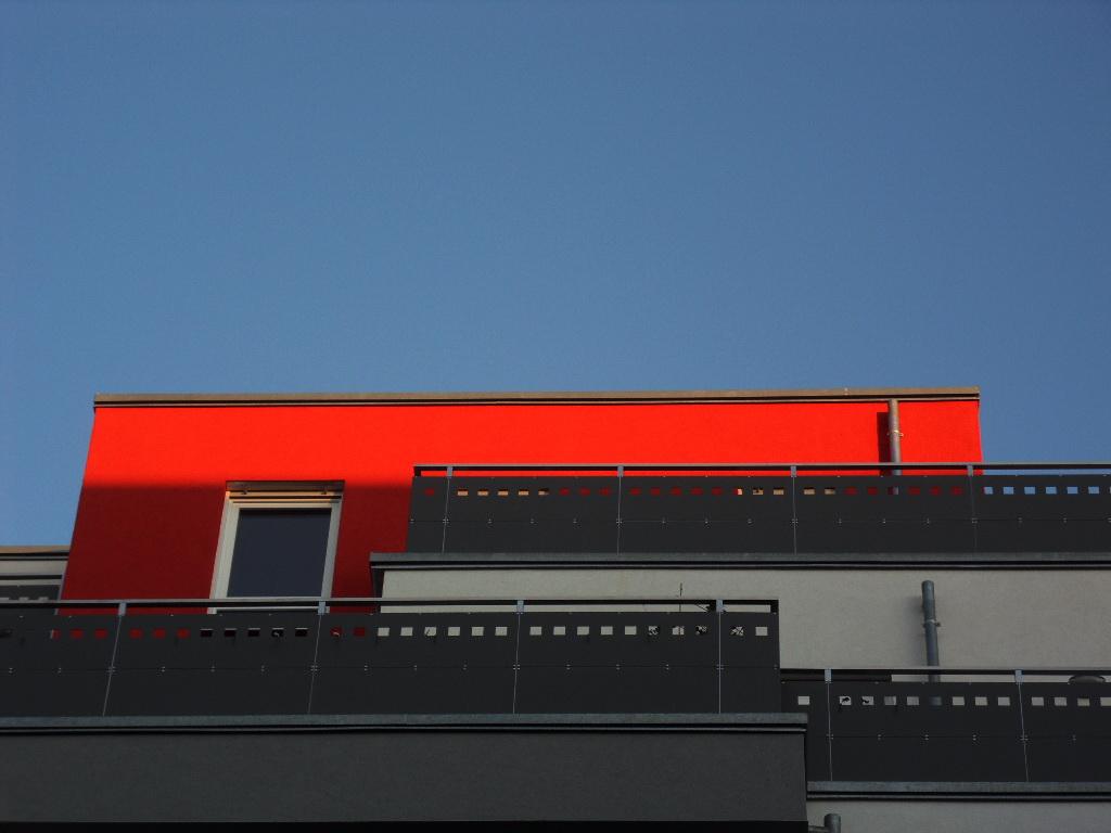 Penthouse in der Abendsonne