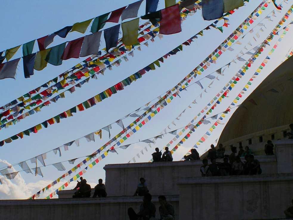 People at Bouddha Stupa