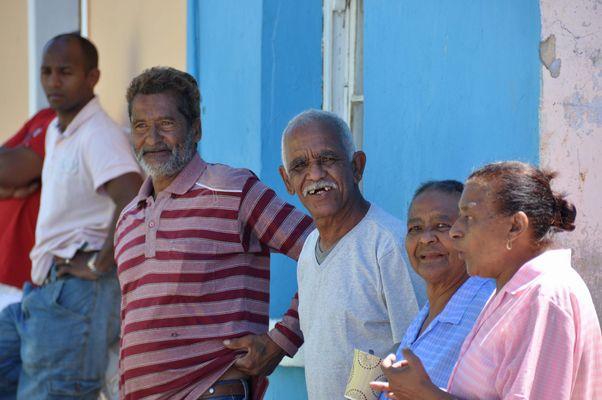 People im Bokap Viertel in Kapstadt - Südafrika