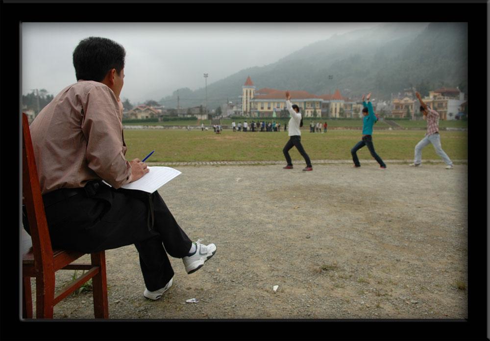 People of Vietnam - Teacher. Gymnasticclasses Sapa