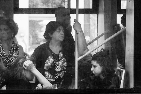 People on a Bus, Rome