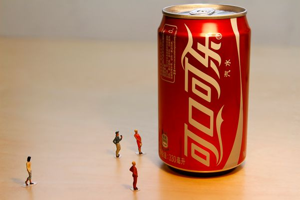 People watch Chinese Cola