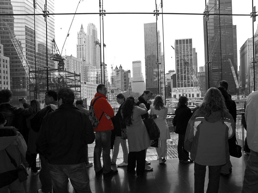 people watching Ground Zero