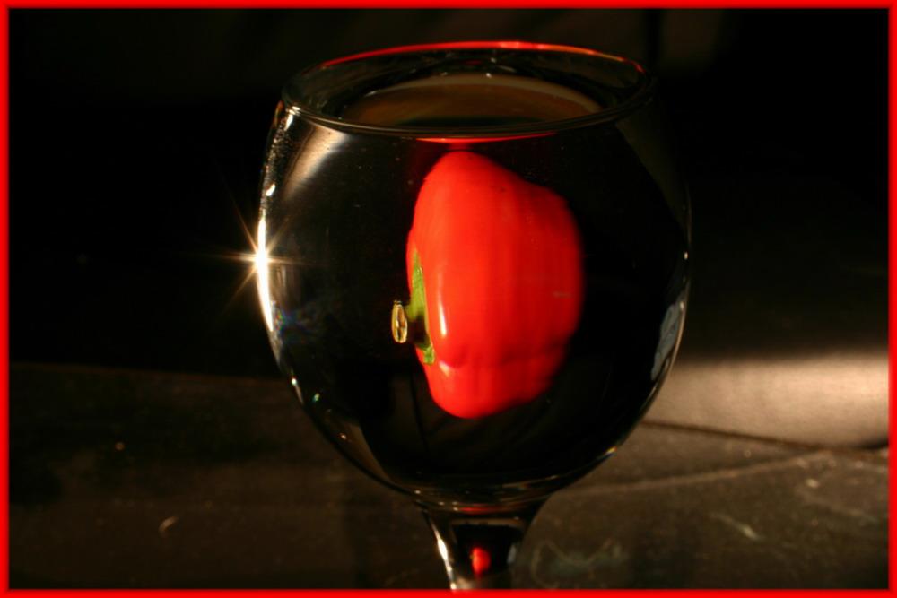 Peperoni im Glas