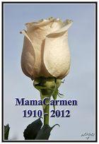 Pequeño, simple y sentido homenaje a mi abuela MamaCarmen 1910-2012.