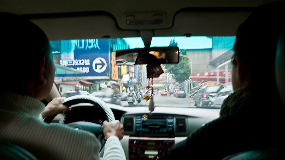 Per Taxi durch Taipei