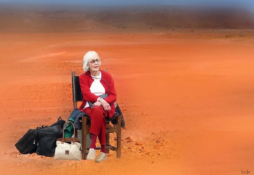 Perdue dans le désert depuis trop longtemps