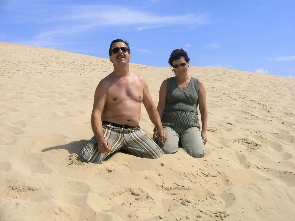 perdus dans le désert des dunes de Pyla!!