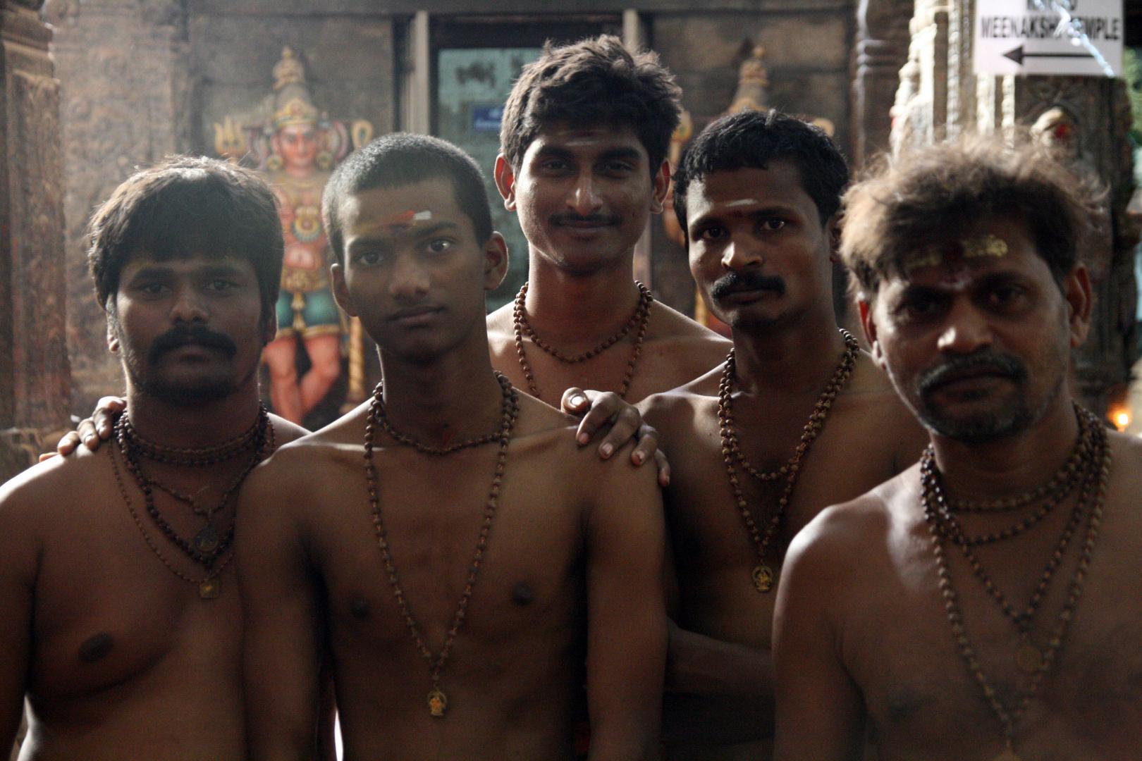 Peregrinos en Madurai
