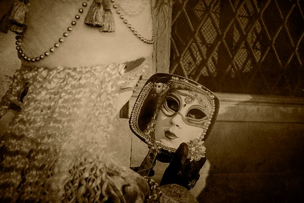 Performer Looking in Hand Mirror #1 2011