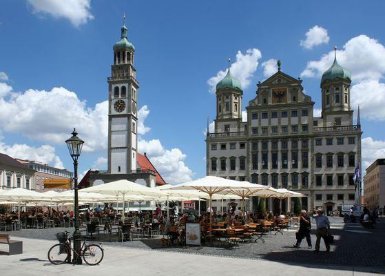 Perlachturm und Rathaus