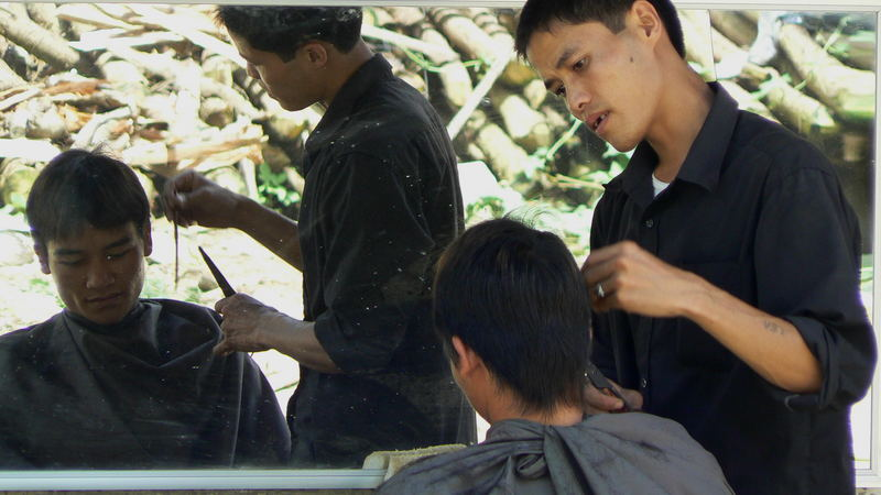 perruqueria al carrer a bac ha (vietnam)