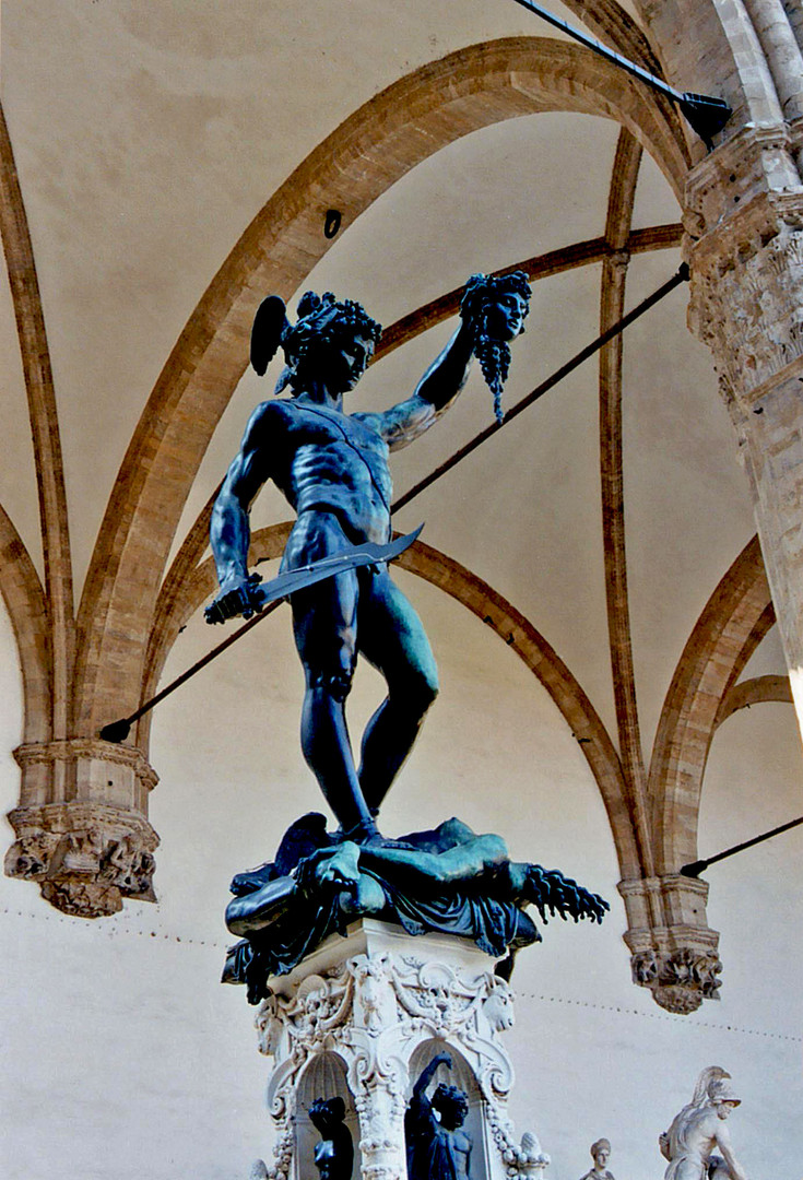 Perseus With the Head of Medusa by Benvenuto Cellini, 1554, Loggia dei Lanzi, Florence