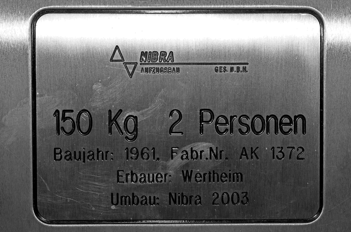 Personen Aufzug