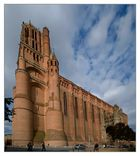 Perspective sur la cathédrale d'Albi