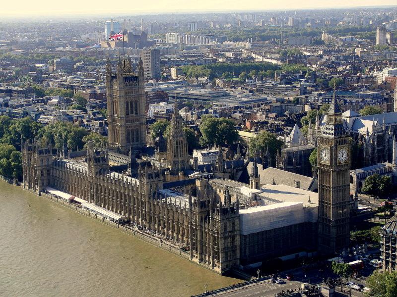 Perspektive aus dem London Eye