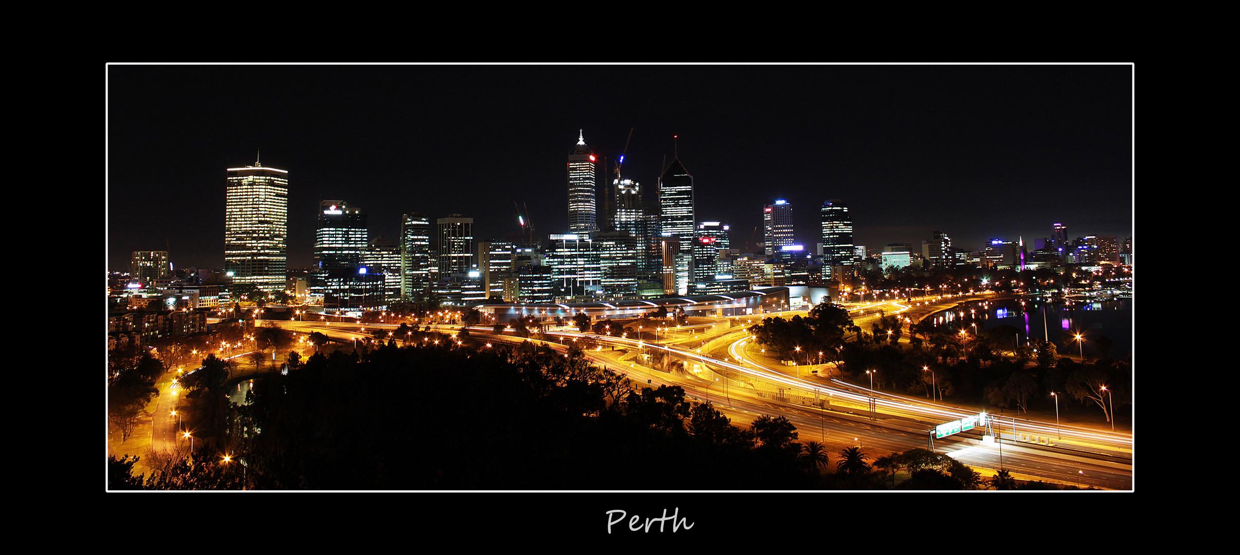 Perth's heart at night