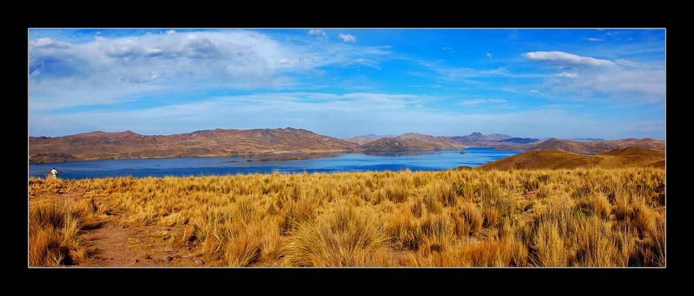 Peru 2007 / am Altiplano (Peru) Bergsee auf ca. 3800 Meter