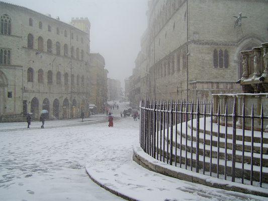 Perugia e la neve.