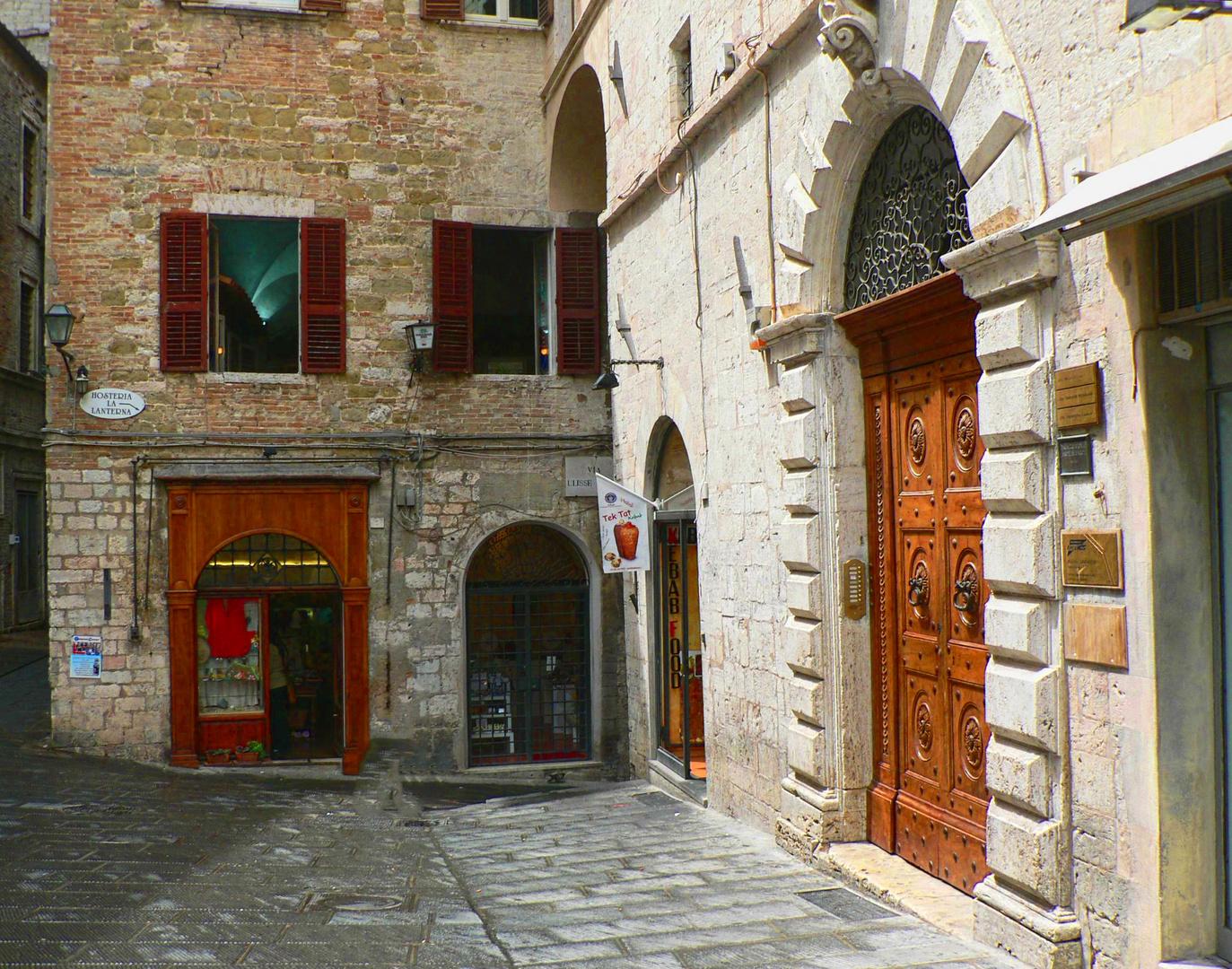 Perugia near the Piazza IV Novembre