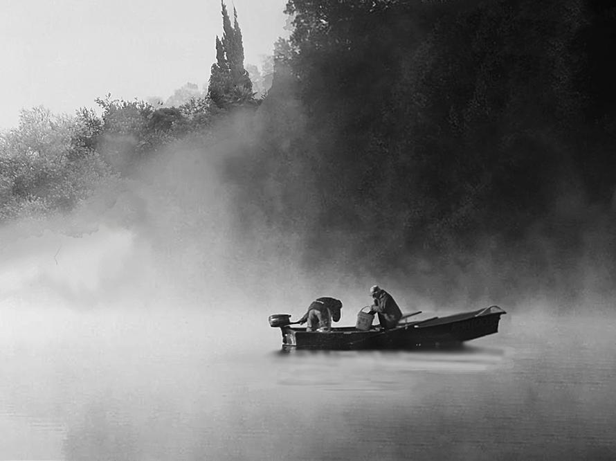 Pesca nella nebbia