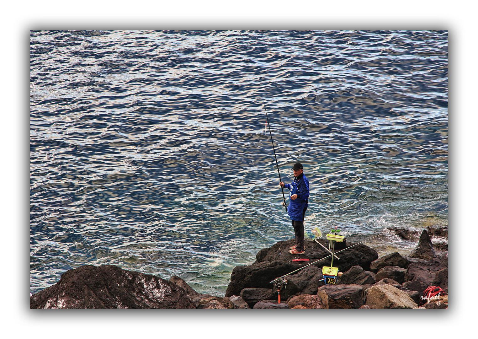 Pescador bien pertrechado
