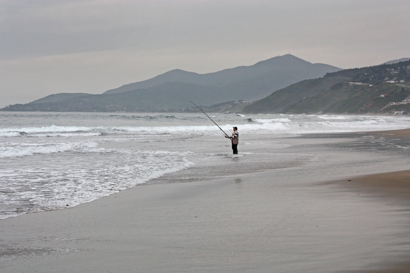 Pescador en Maitencillo