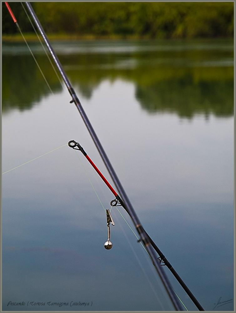 Pescando ( Tortosa Tarragona Catalunya )