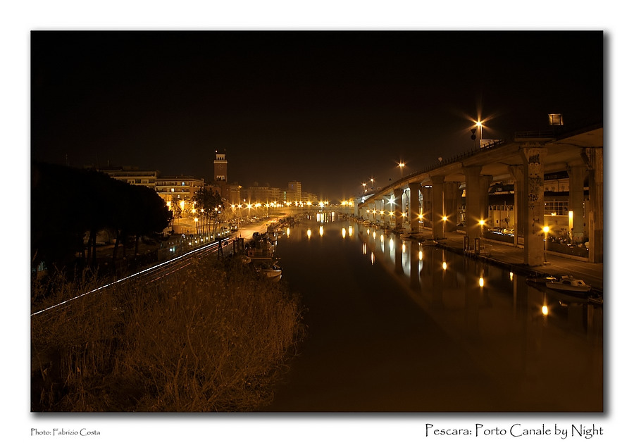 Pescara: Porto Canale by Night