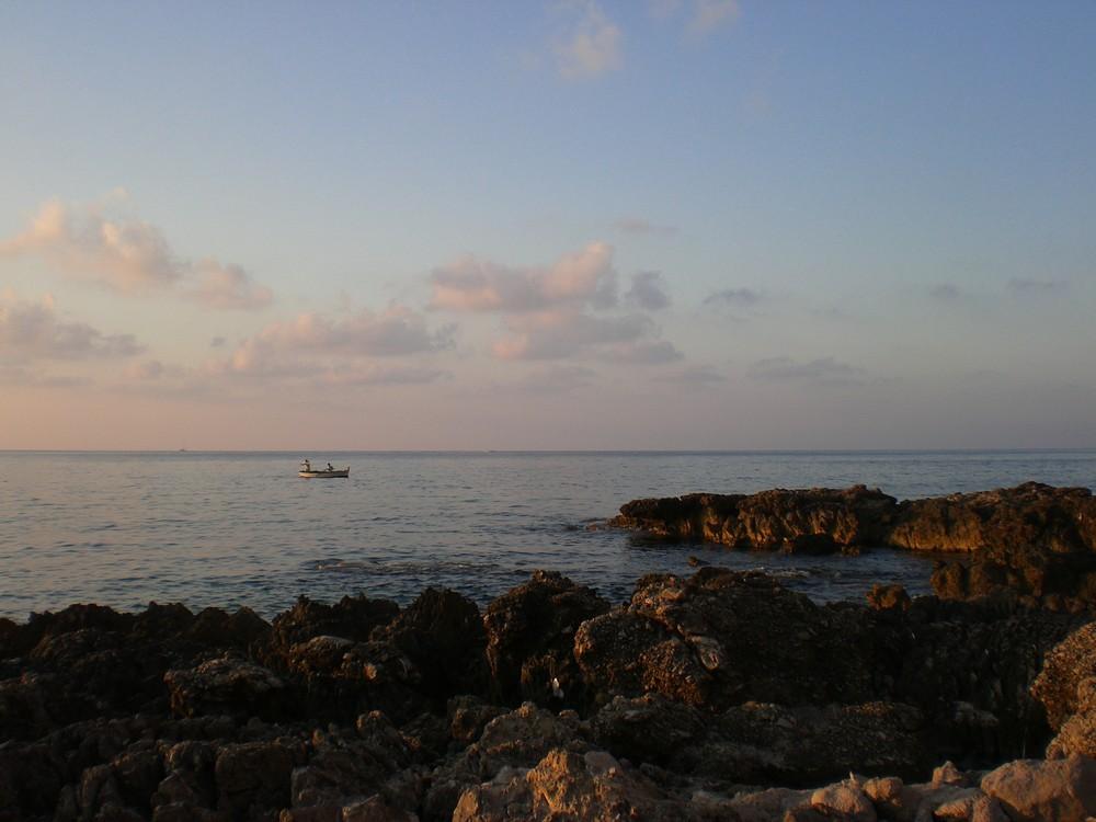 Pescatori verso sera