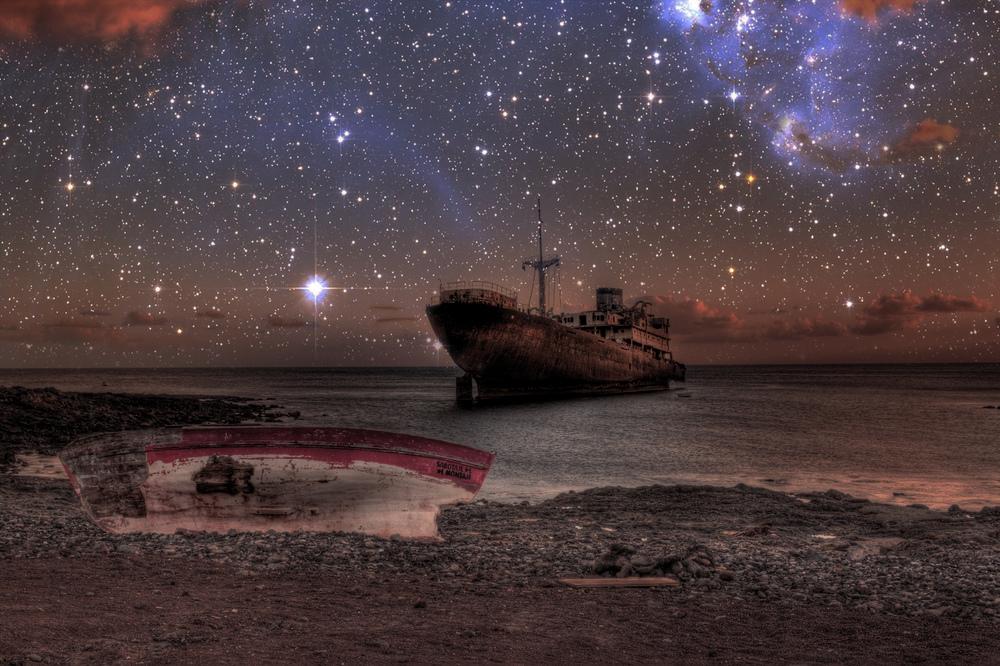 Pesquero vigilado por las estrellas.