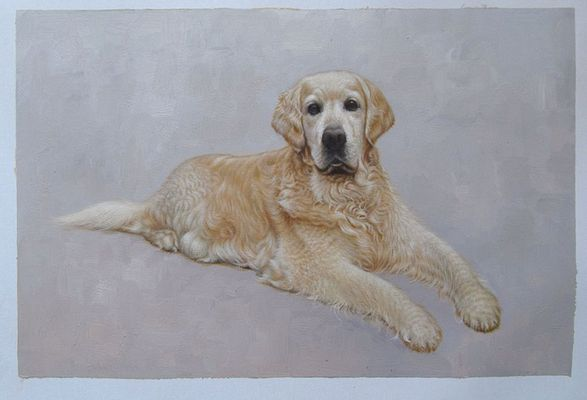 Pet Portrait Painting from Photo