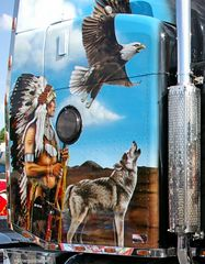 Peterbilt Indian Airbrush