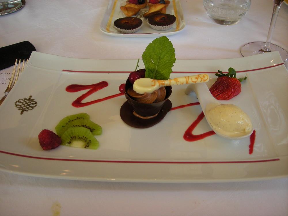 Petit aperçu d'un desserts chez mon chef favorit