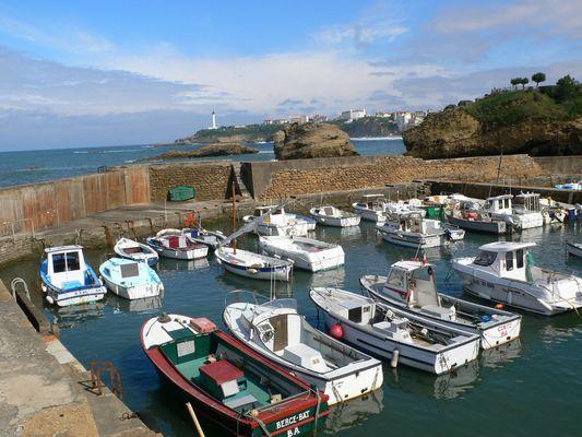Petit port de pêche à Biarritz