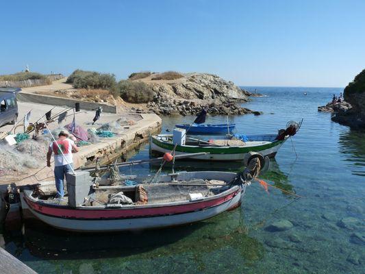 Petit port de pêche Iles du Gaou - Le Brusc